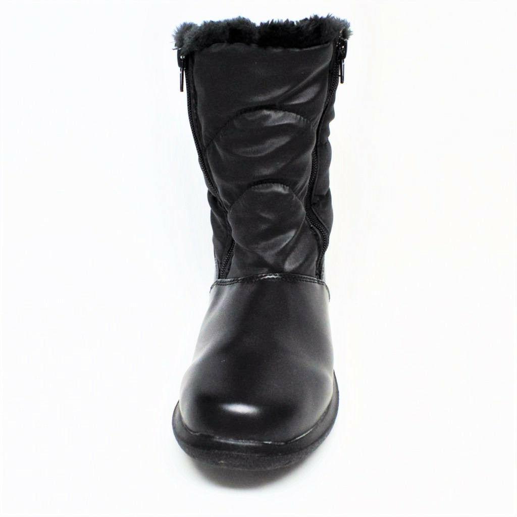 NEW Womens Boot Fur Full Black
