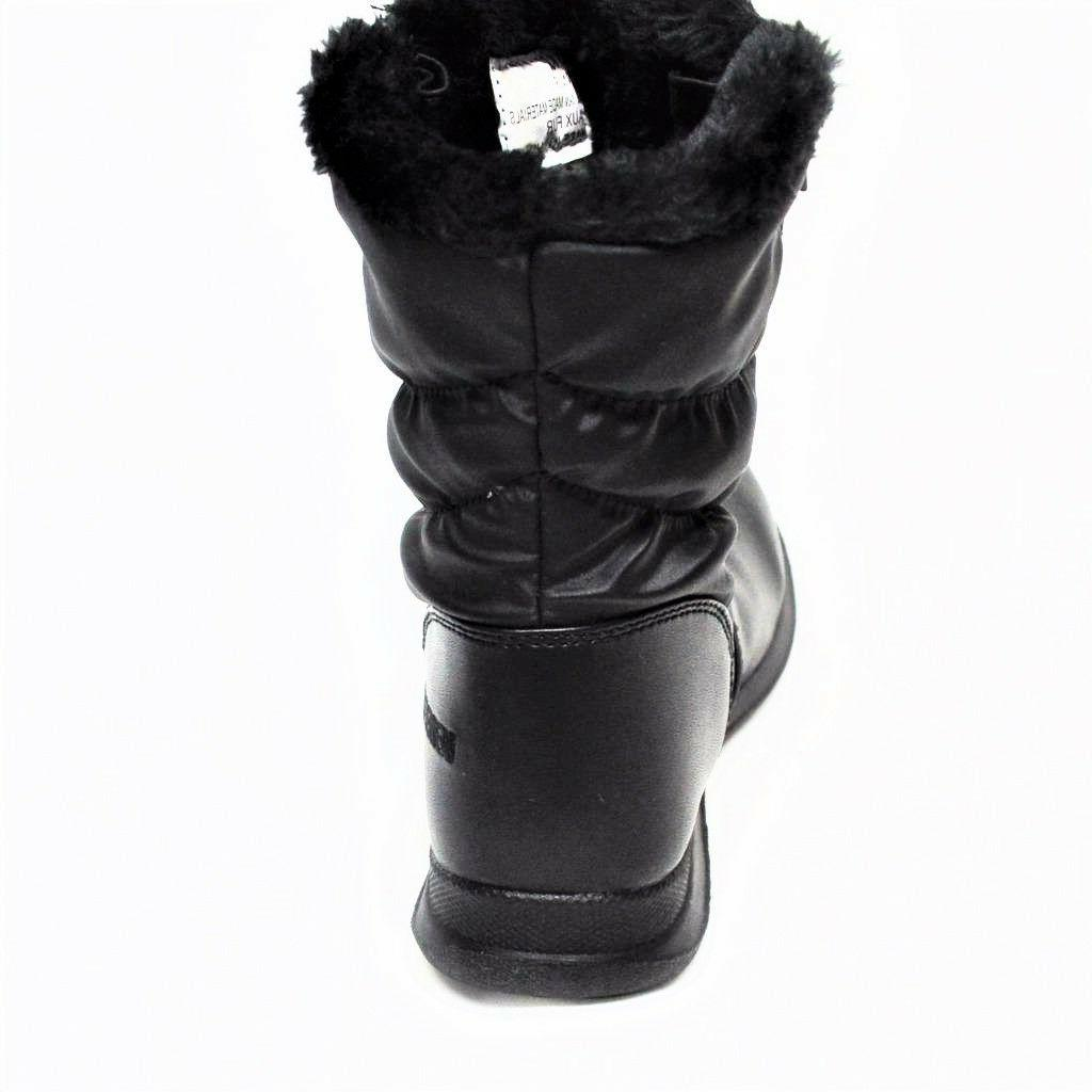 NEW Weatherproof Womens Snow Fur Full Black