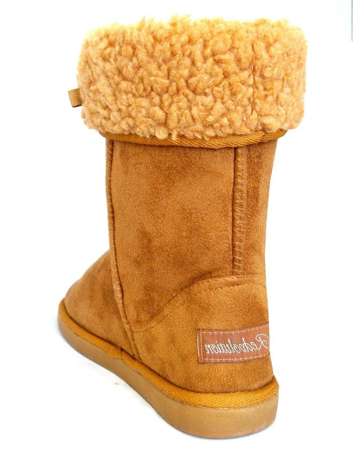 NEW Women/Girls Classic Snow Boots Heel Sho Faux -430