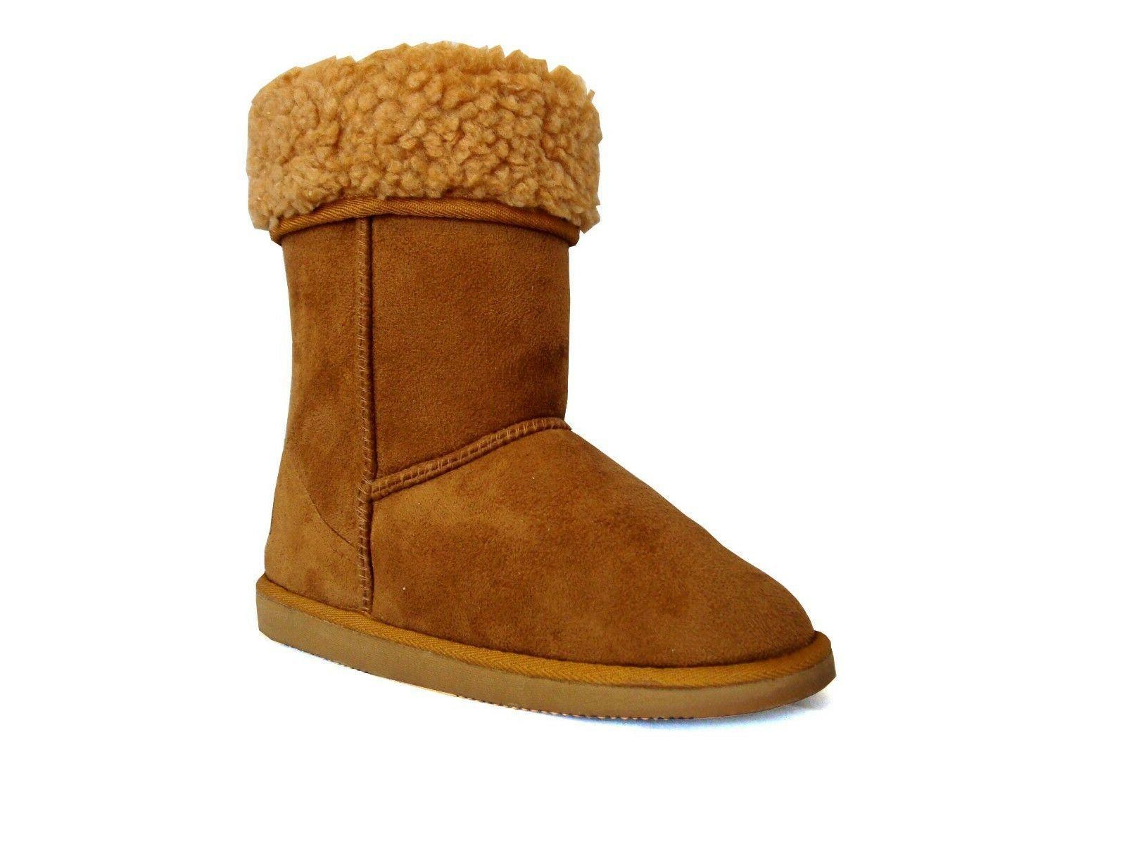 NEW Classic Snow Boots Heel Faux Fur -430