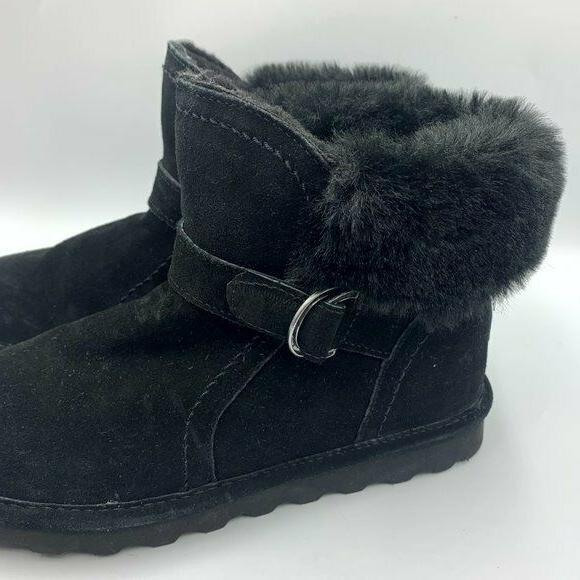 Bearpaw NEW 8M Black Koko Shearling Suede Snow Boots