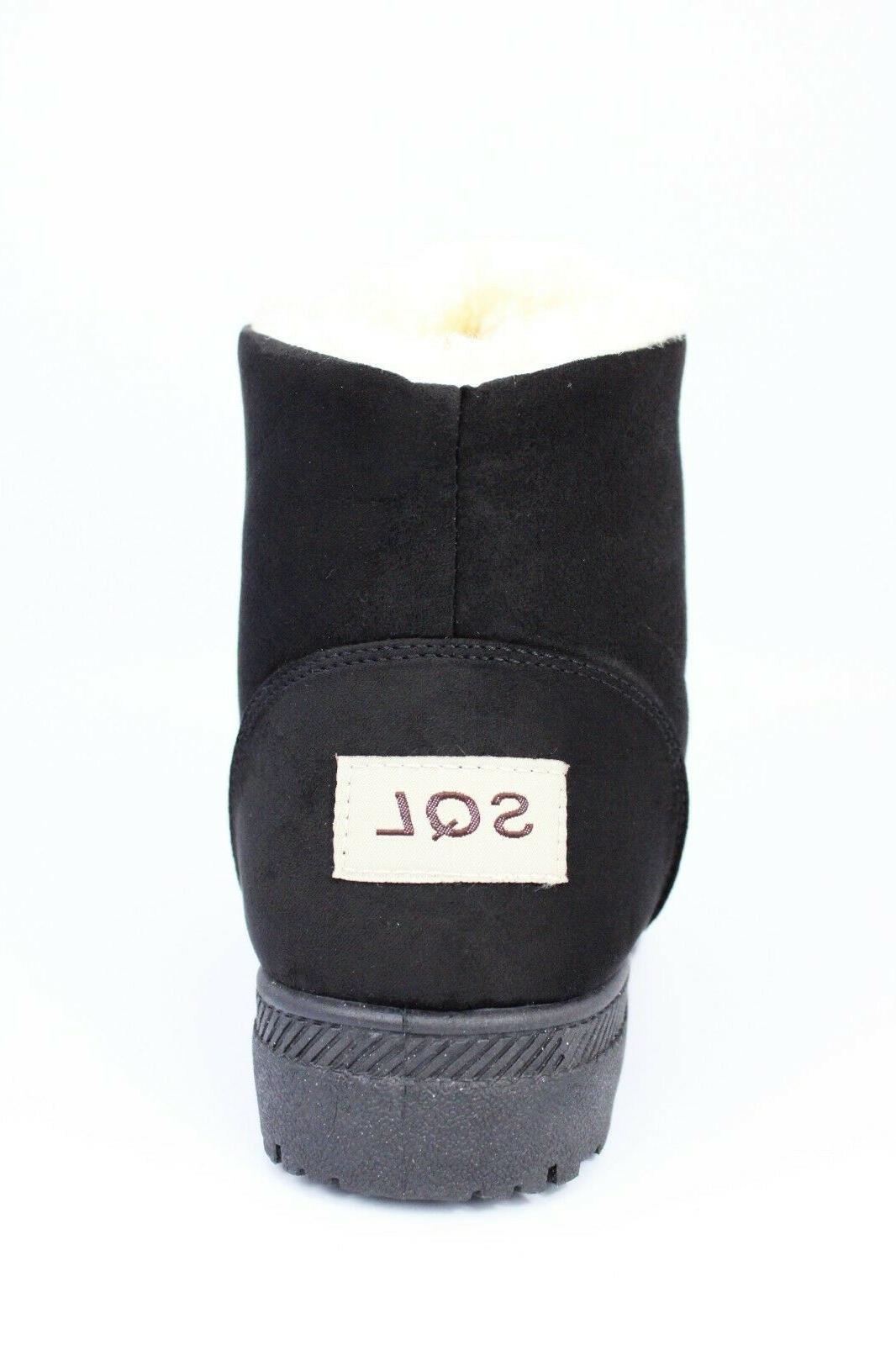 NOT100 Women's Waterproof Boots Booties, Black,