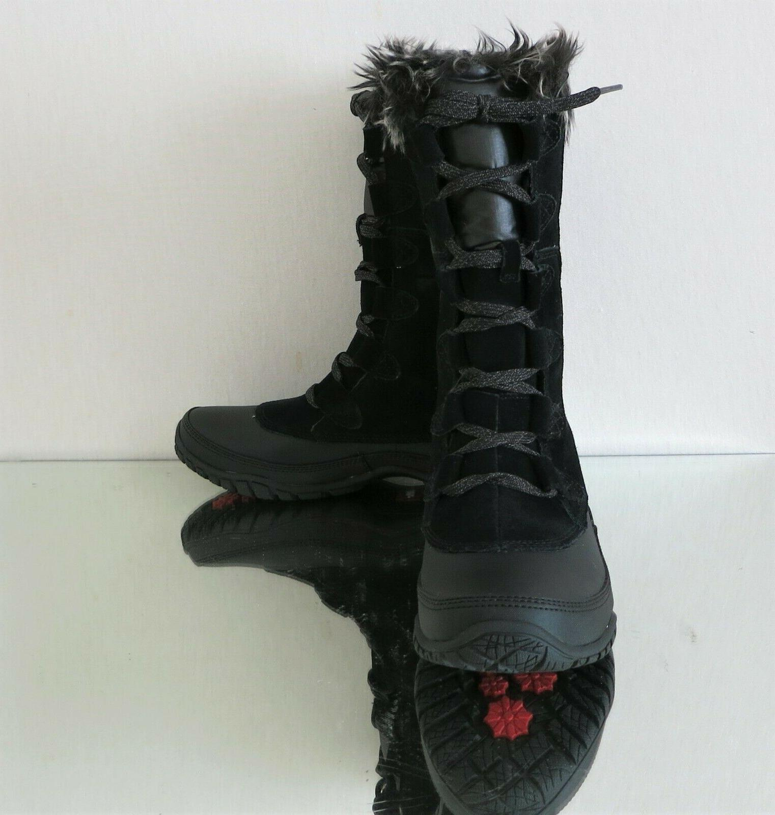 THE FACE Snow Boots Black 6~9