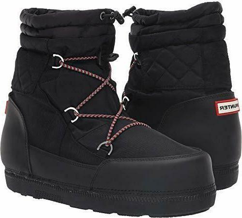 original short quilted snow boots black women