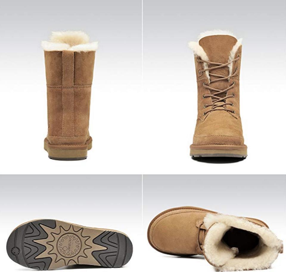SALE! Au mu Lace Hunter Snow Boots Color