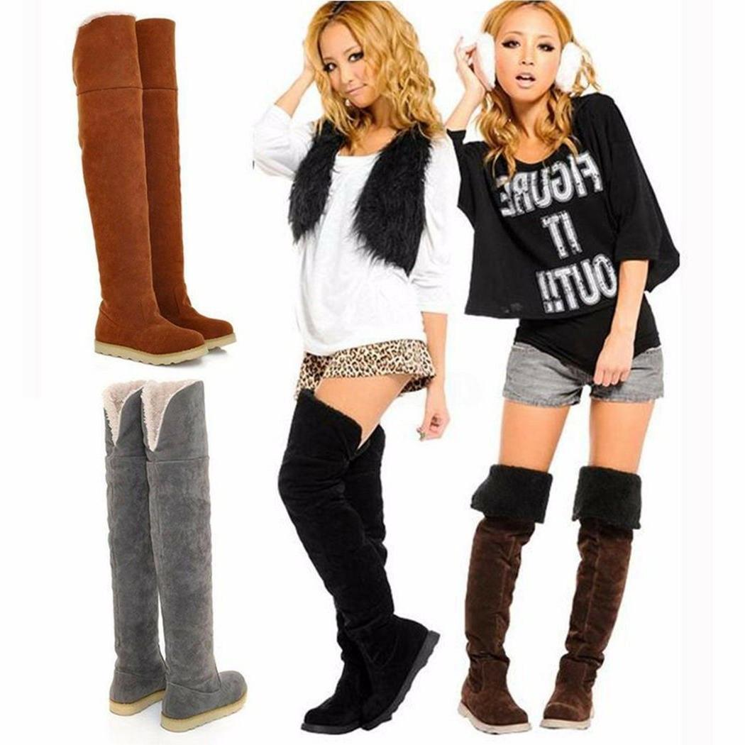 Sexy Women's Over Knee Thigh High Snow Boots Girl's Winter B