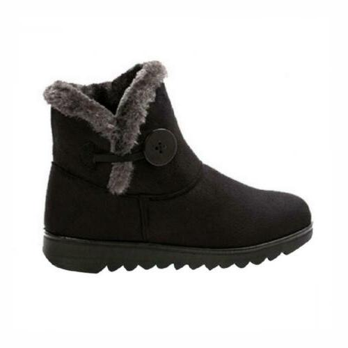 Snow Boots Button Pull Shoes