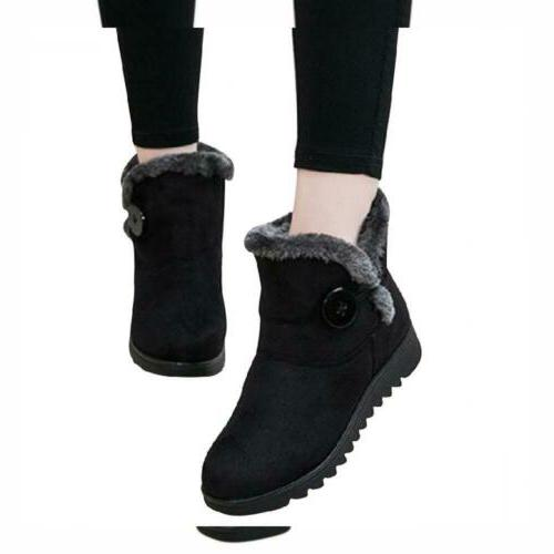 Slduv7 Snow Boots Pull On Ankle Shoes