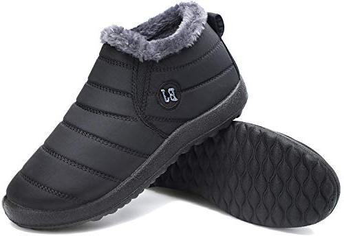 Snow Waterproof Lined Warm Shoes Black 8.5 US