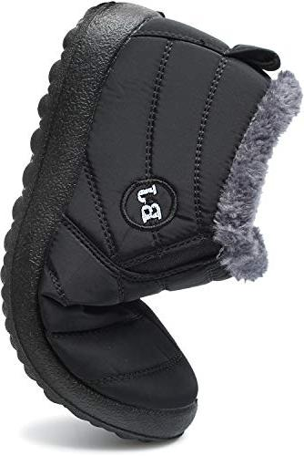 FEETCITY Snow Boots Lined Shoes Black Women