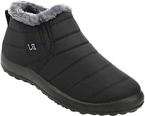 walking snow boots waterproof fur