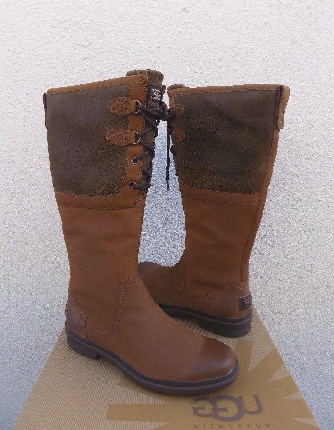 UGG CHESTNUT WATERPROOF LEATHER BOOTS, 6.5/ 37.5 NEW