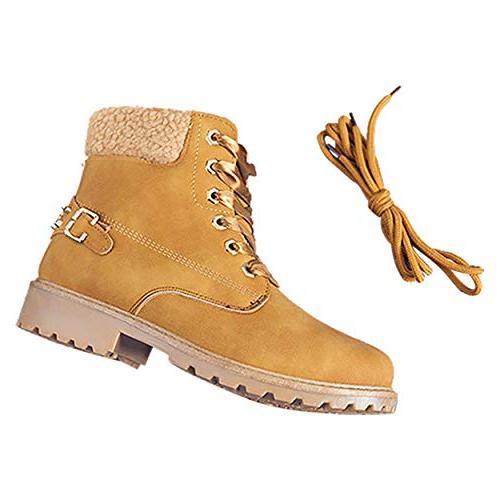 Susanny Boots Short Combat on Low Fur Booties