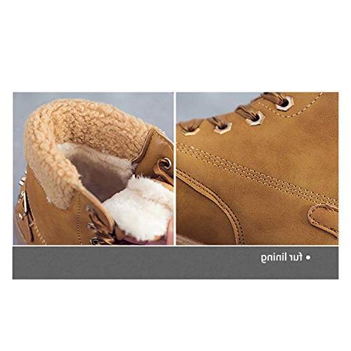 Susanny Boots Lace Short Combat on Low Fur