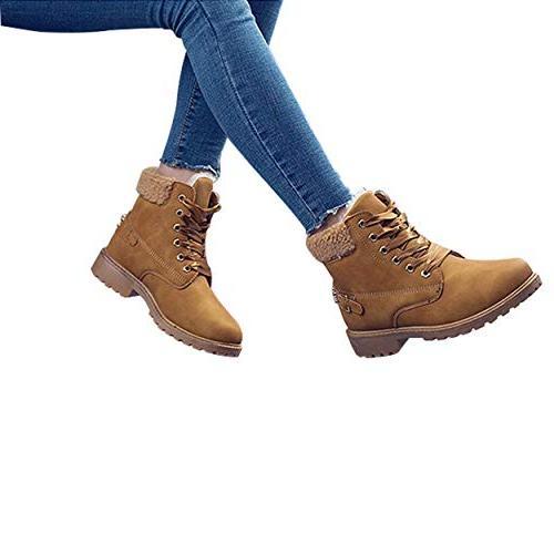 Susanny Women's Warm Boots Short Boot on Winter Low Fur Booties