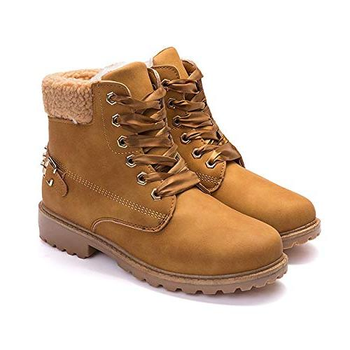 warm snow boots ankle lace