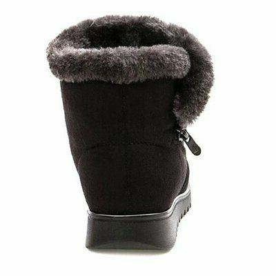 Slduv 7 Boots for Women Fur Lined Ankle Booties