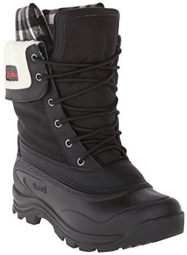 waterproof boot white plaid