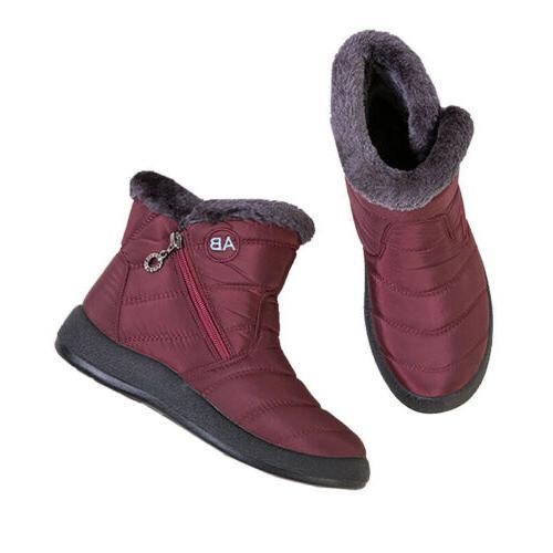 Waterproof Winter Snow Boots On