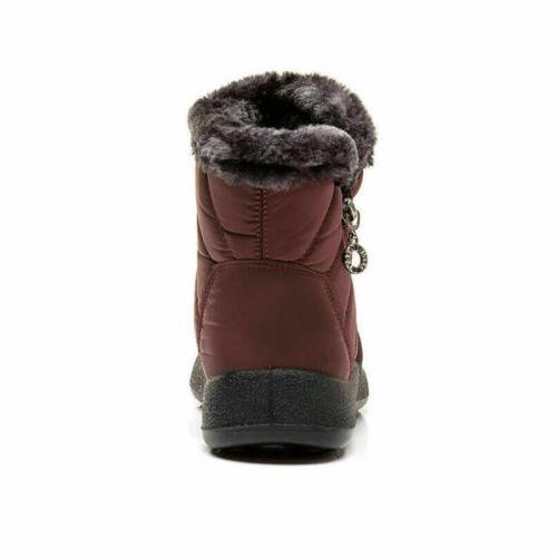Waterproof Winter Women Snow Boots Slip On Warm Ankle Size US