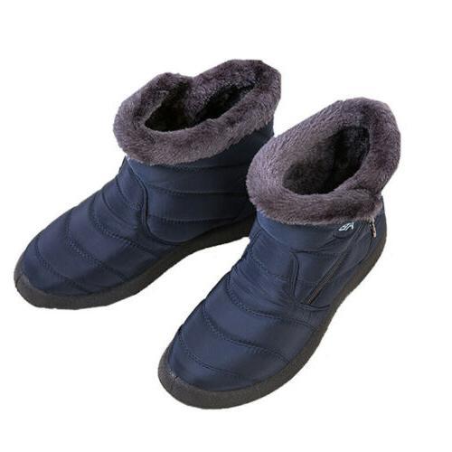 Waterproof Winter Women Snow On Warm Ankle Size US