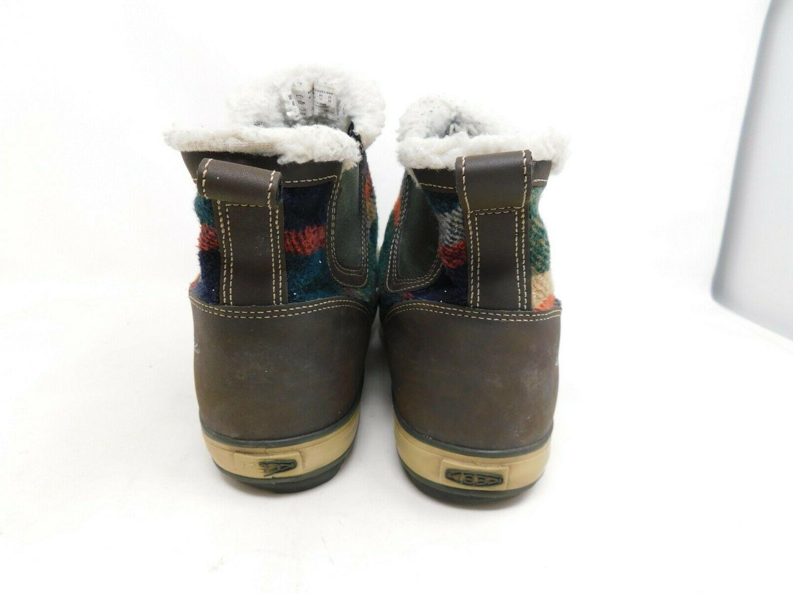 Keen Boots Womens Plaid Waterproof Insulated Ankle Snow