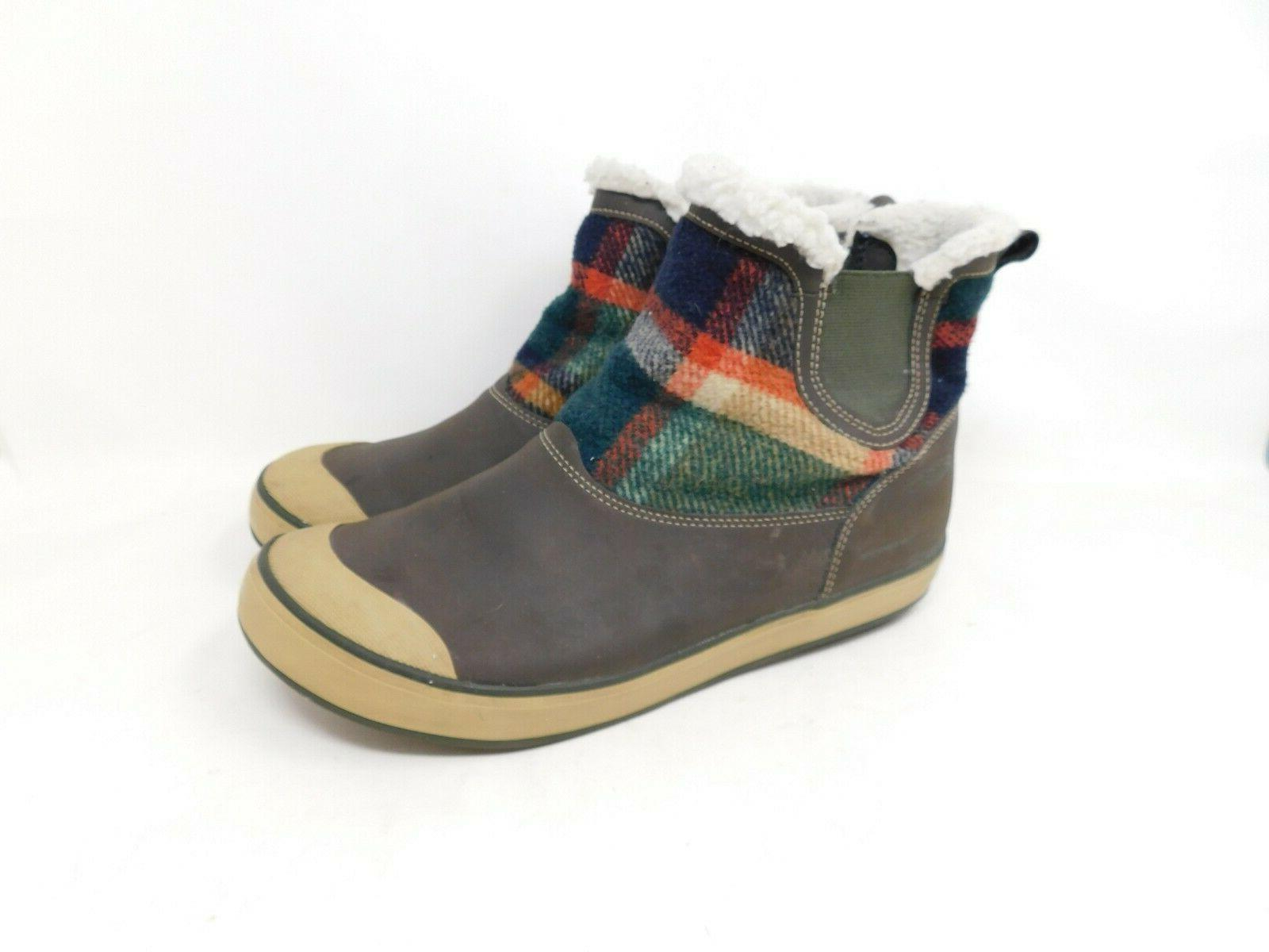 winter boots 11 womens plaid waterproof warm
