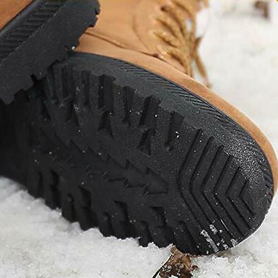 SHIBEVER Winter Boots Women Platform Fur Snow Ankle Lace 9