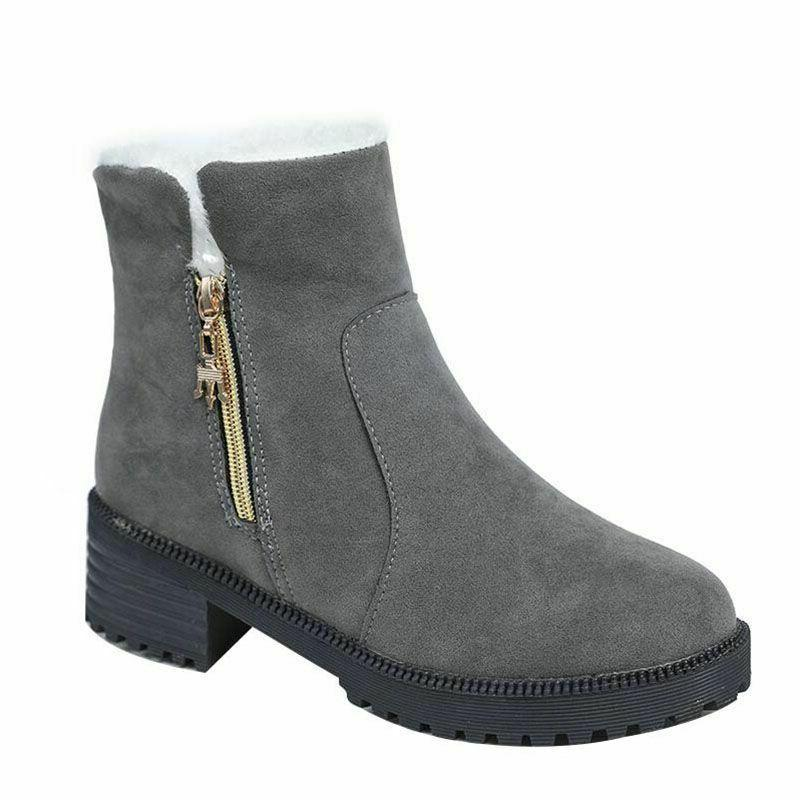 Winter Boots Snow Women Shoes Fashion Round Toes Ankle Booti
