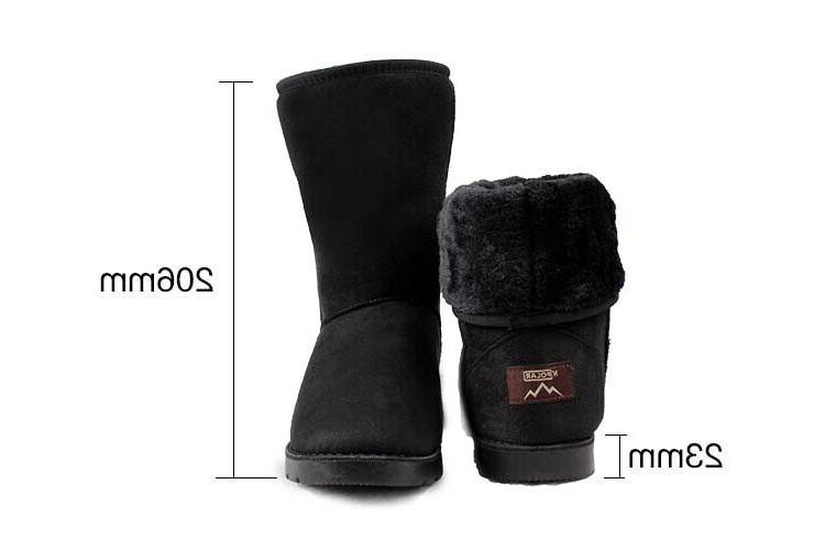 Women Warm Faux Fur Suede Snow US Size