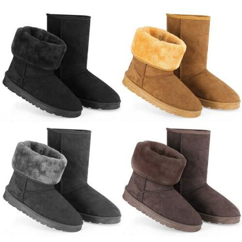 winter boots women s faux fur suede
