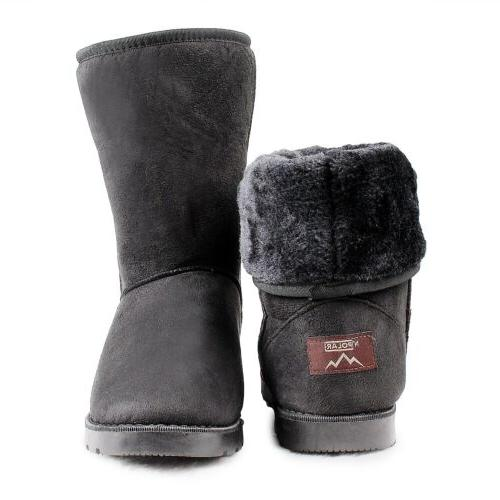 Women Faux Fur Suede Snow US Size