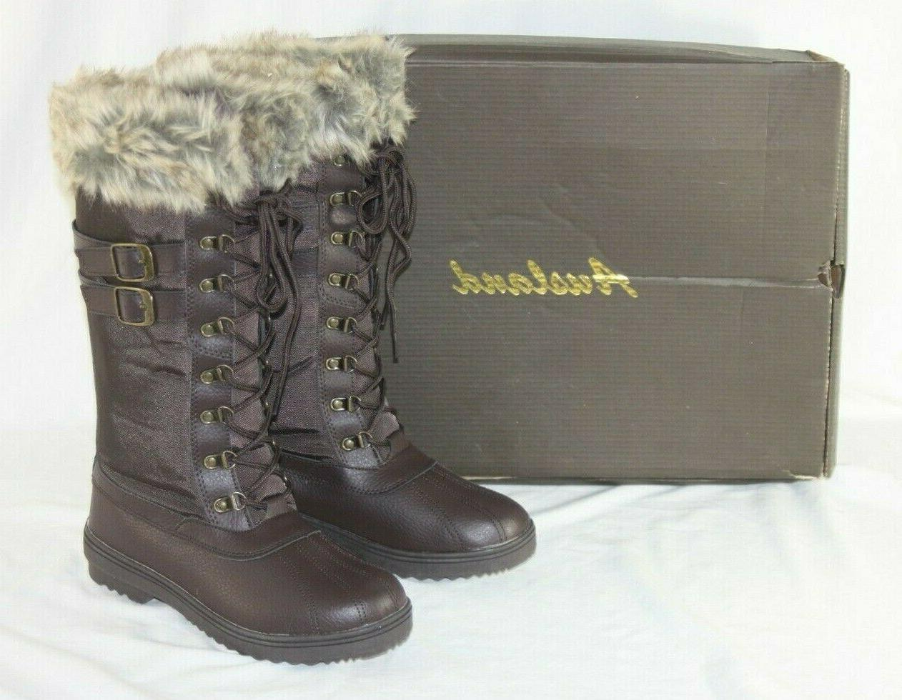 winter buckle snow boots women s 7