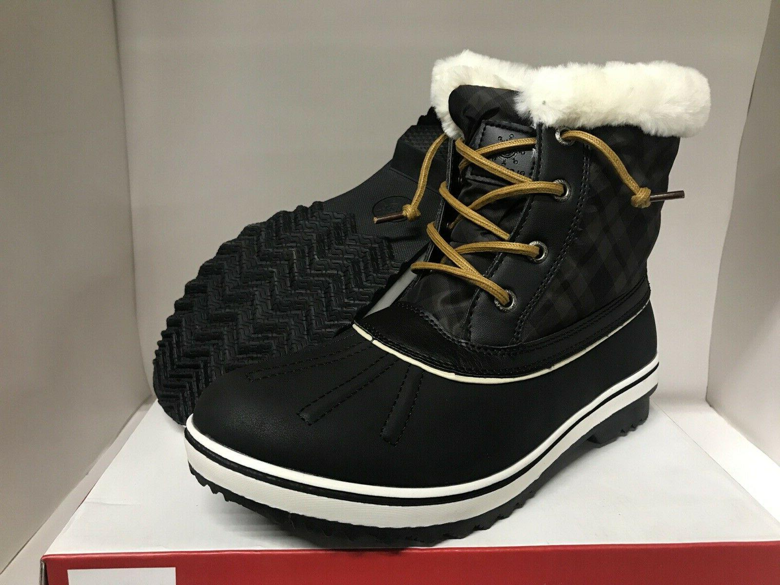 Globalwin Winter Snow Boots Black Size