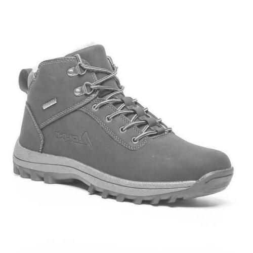 Winter Men's Women's Lined Boots Non-slip Outdoor Snow Size