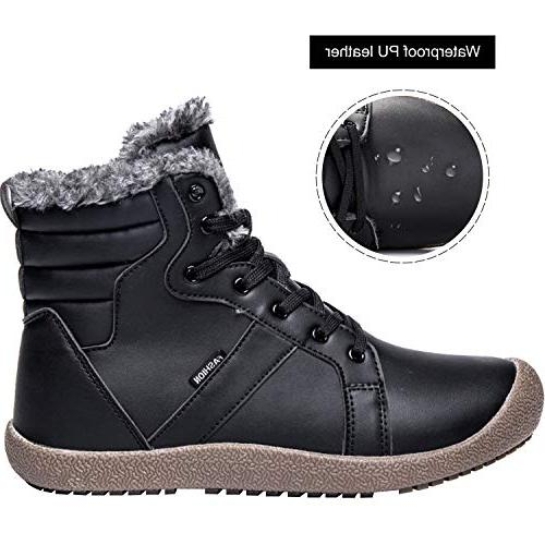 JIASUQI Waterproof Warm Boots Black 10.5 M