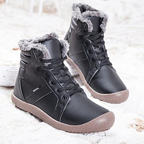 JIASUQI Womens Winter Waterproof Boots