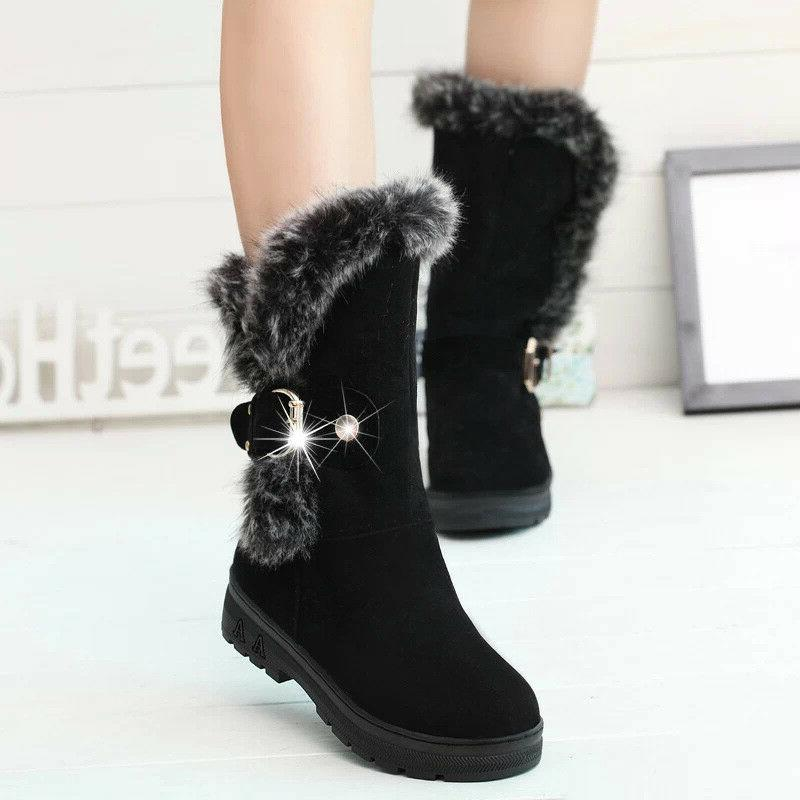 Winter Women Ladies Buckle Shoes