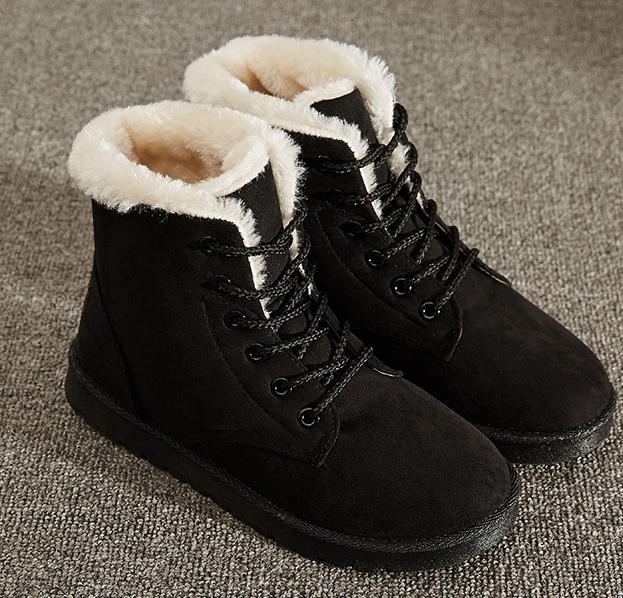 Winter Women's Flat Boots Warm