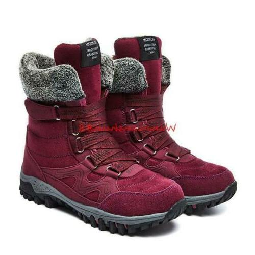 winter mens plush snow boots outdoor warm