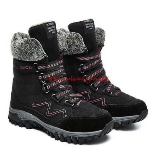 Winter Mens Plush Boots Sneakers Hiking Size