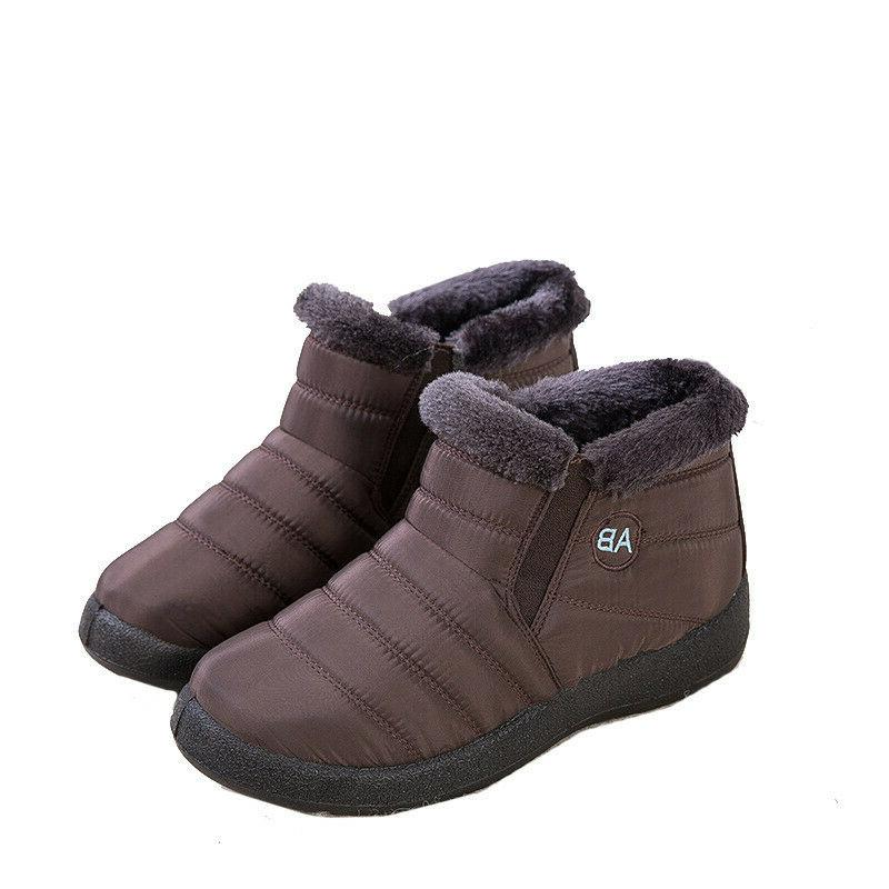 Women Shoes Boots Slip On Ankle Shoes Waterproof