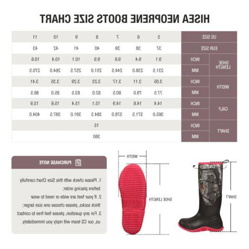HISEA Women's BREATHABLE Boots Snow Rain Hunting