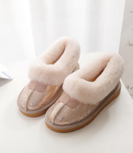 Women's Faux Fur Flats Warm Booties Ankle Boots