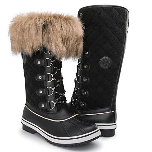 women s globalwin 1707black waterproof winter boots