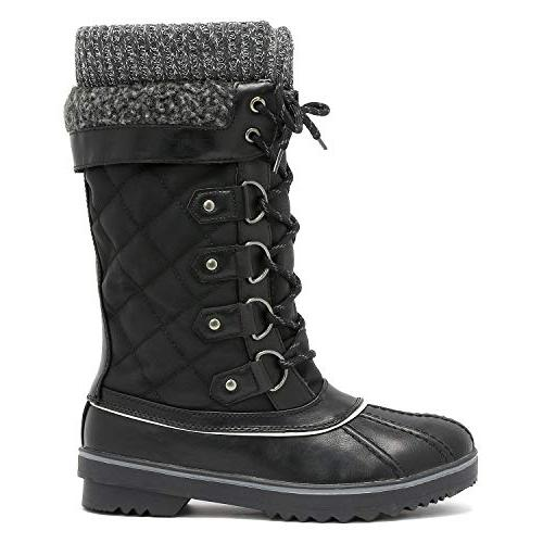 DREAM Women's Monte_02 Black Winter Snow Boots Size M US