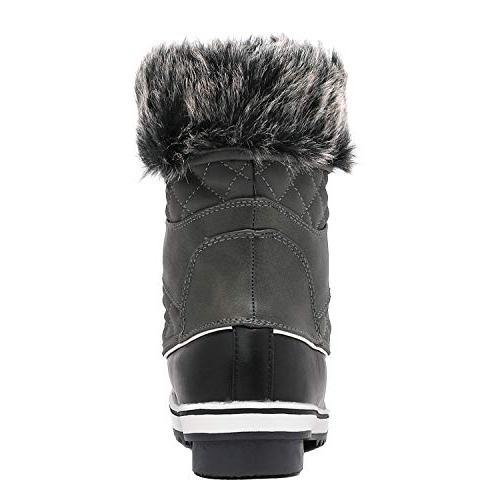 DREAM Women's River_2 Grey Mid Calf Snow Boots M