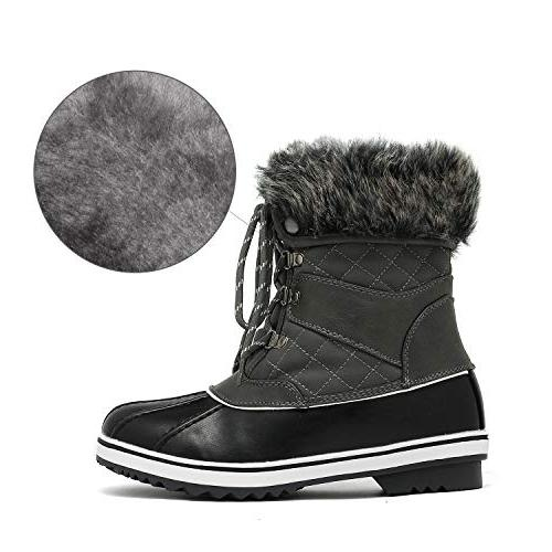 DREAM PAIRS Grey Snow