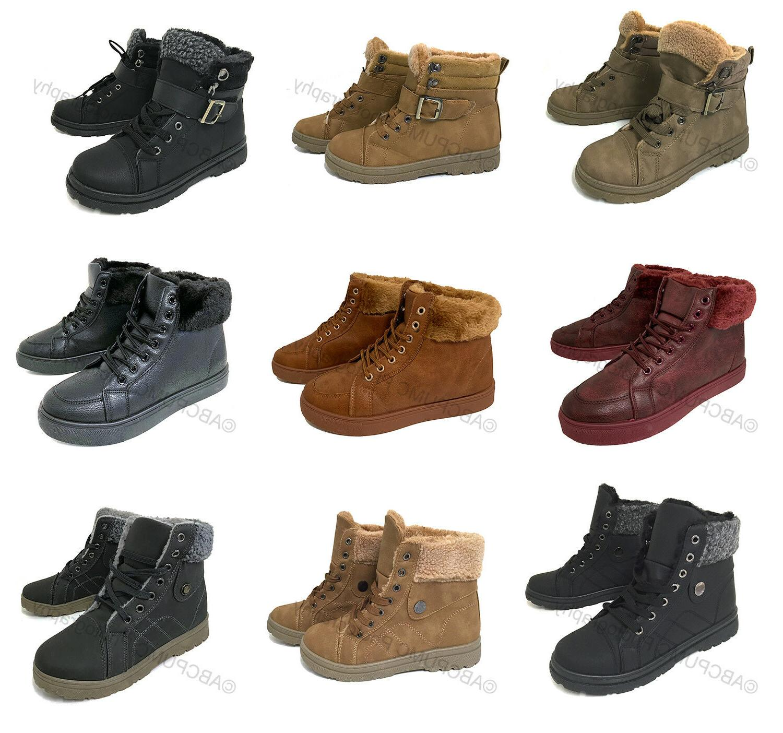 Women's Sneaker Boots Winter High Top Lace