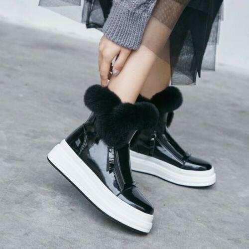 Women's Snow Ankle Boots Winter Fur Lined Warm Waterproof Ou